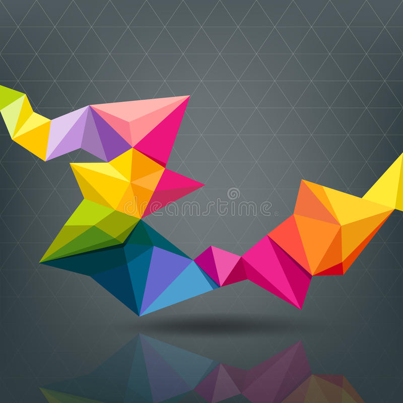 Abstrakt geometrisk färgrik modern design vektor illustrationer