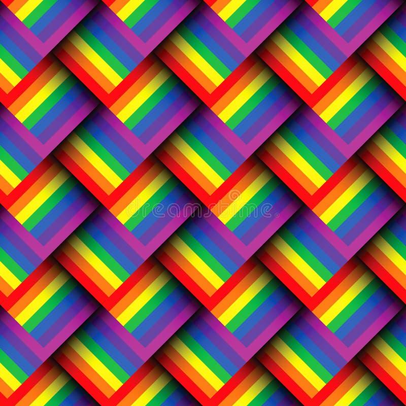 Abstrakt geometrisk färgrik sömlös modell stock illustrationer