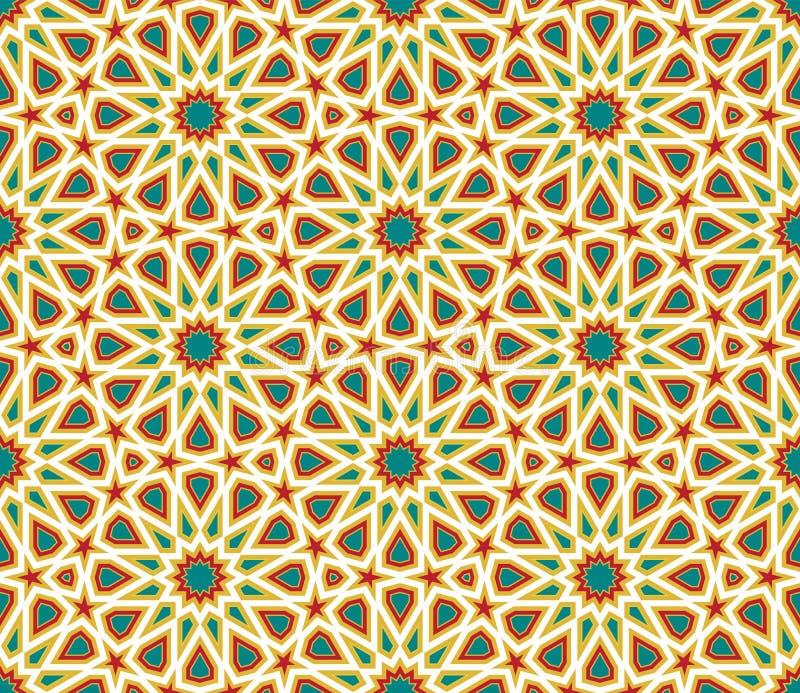 Abstrakt geometrisk färgrik sömlös vektorbakgrund royaltyfri illustrationer