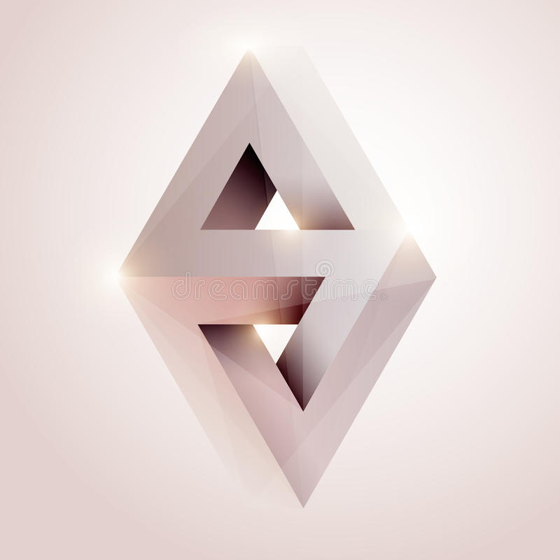 Abstrakt geometrisk form. vektor illustrationer
