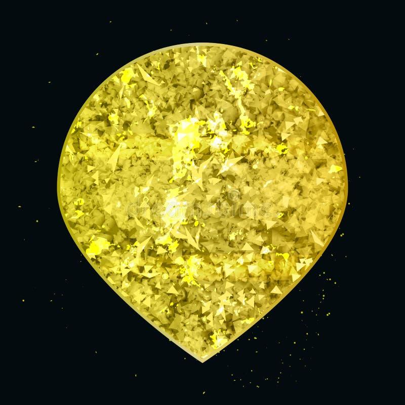 Abstrakt geometrisk form för guld som fläck i vektor stock illustrationer