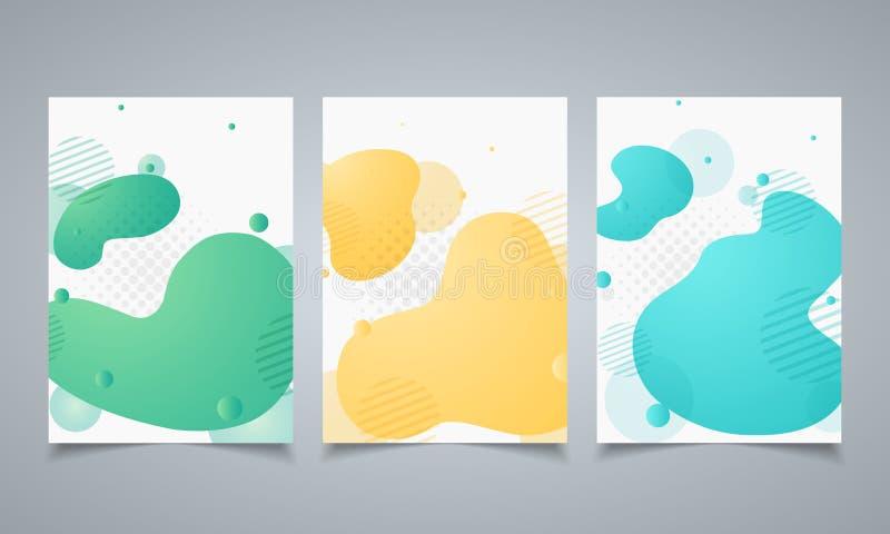 Abstrakt geometrisk form för modern design av beståndsdelbroschyrmallen Dynamisk kulör formmodell Illustrationvektor eps10 royaltyfri illustrationer