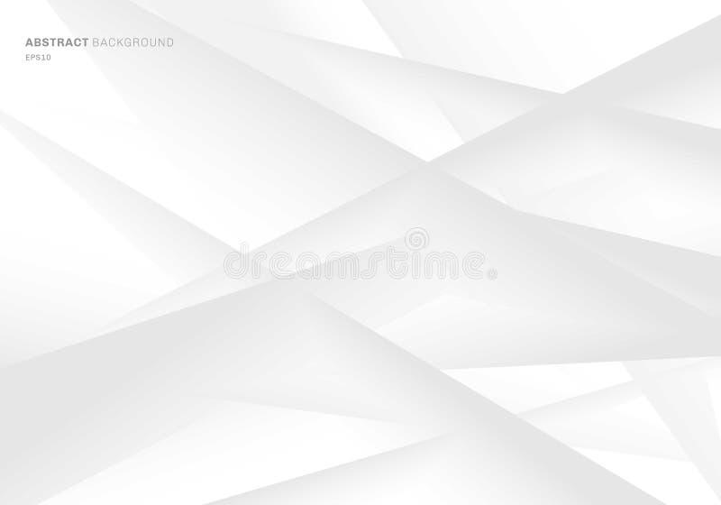 Abstrakt geometrisk grå och vit lutningfärgbakgrund Du kan använda för räkningsdesignen, broschyren, affischen, banerrengöringsdu vektor illustrationer