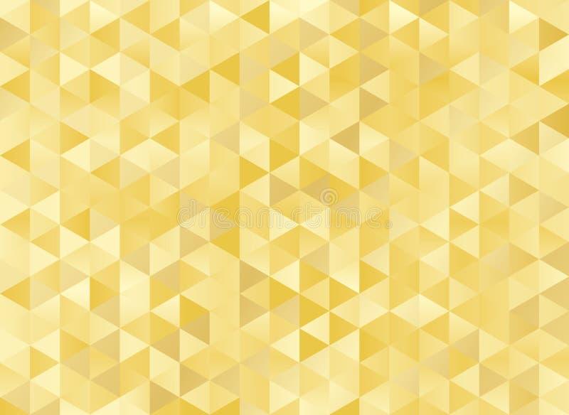 Abstrakt geometrisk guld- bakgrund royaltyfri illustrationer
