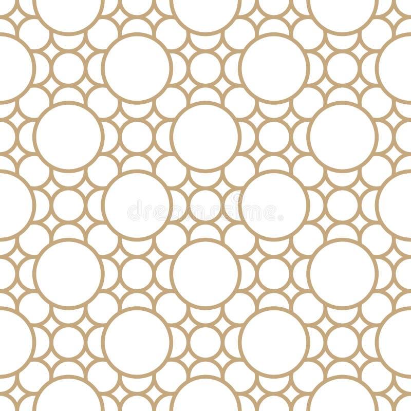 Abstrakt geometrisk guld- modell för decokonstprydnad royaltyfri illustrationer