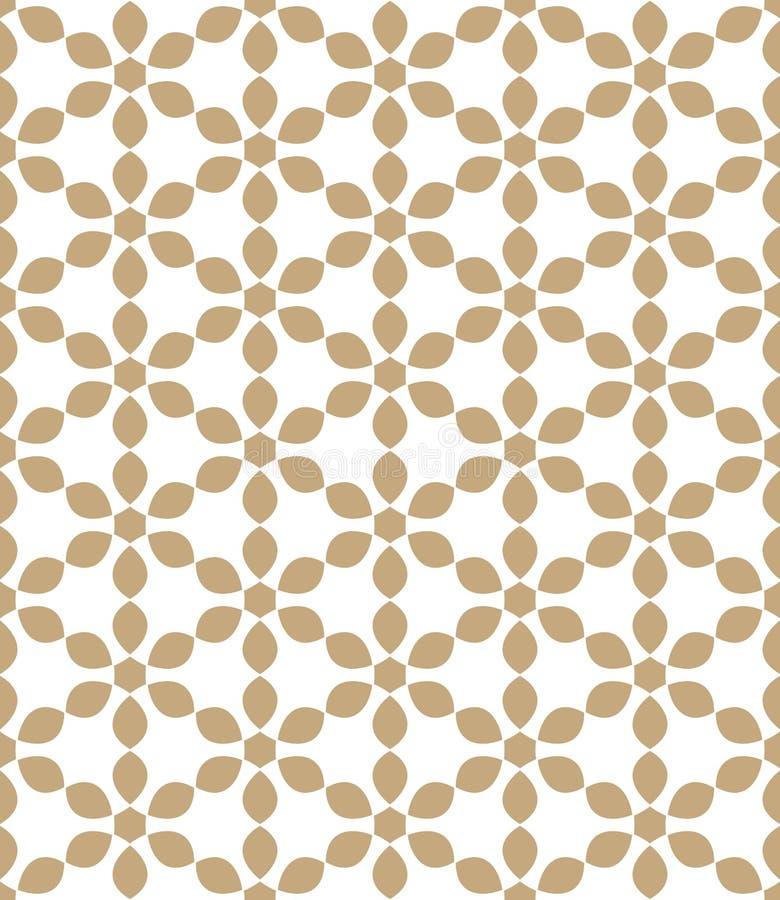 Abstrakt geometrisk guld- modell för hipsterdecokonst royaltyfri illustrationer