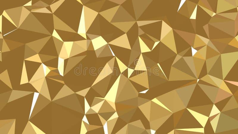 Abstrakt geometrisk guld- textur 3d royaltyfri illustrationer
