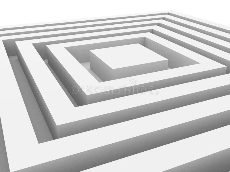Abstrakt geometrisk kubvitbakgrund royaltyfri illustrationer
