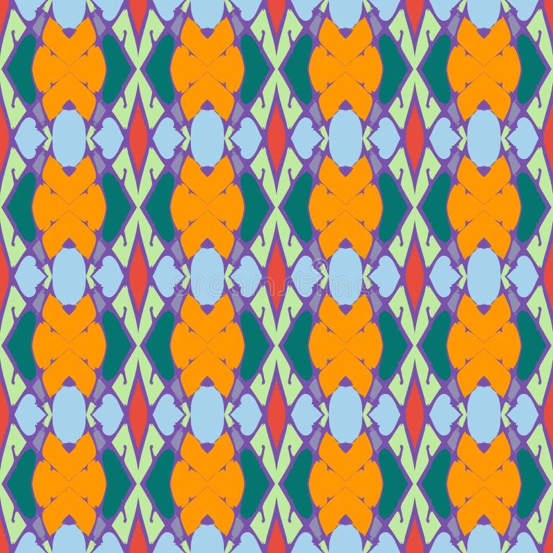 Abstrakt geometrisk kulör sömlös modellillustration för din design vektor illustrationer