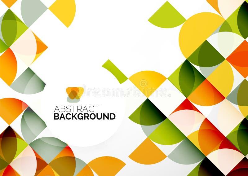 Abstrakt geometrisk mall för affär stock illustrationer