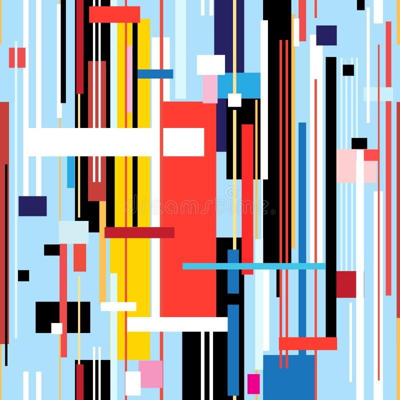 Abstrakt geometrisk modell av band stock illustrationer