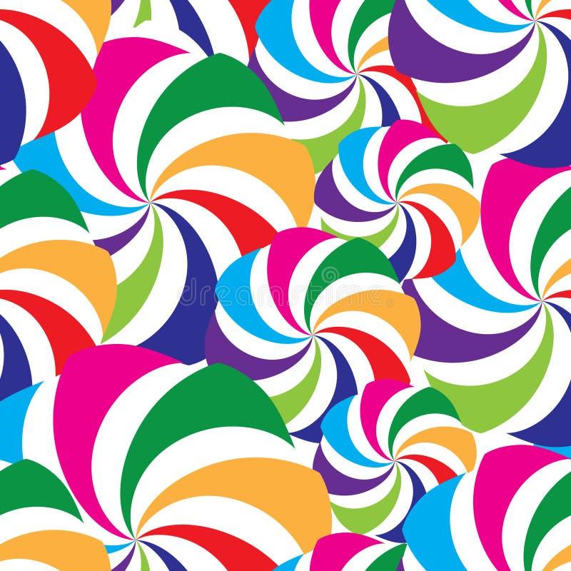 abstrakt geometrisk modell Belagd med tegel prydnad för ferie virvel Multic royaltyfri illustrationer