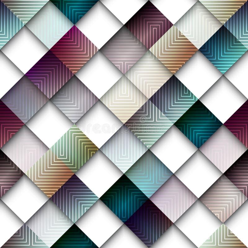 Abstrakt geometrisk modell från romb stock illustrationer