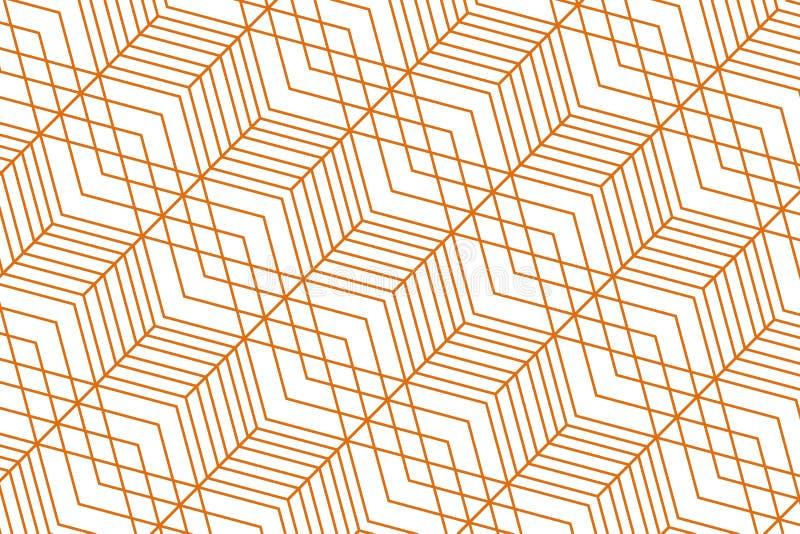 abstrakt geometrisk modell guld- textur seamless geometrisk modell royaltyfri illustrationer