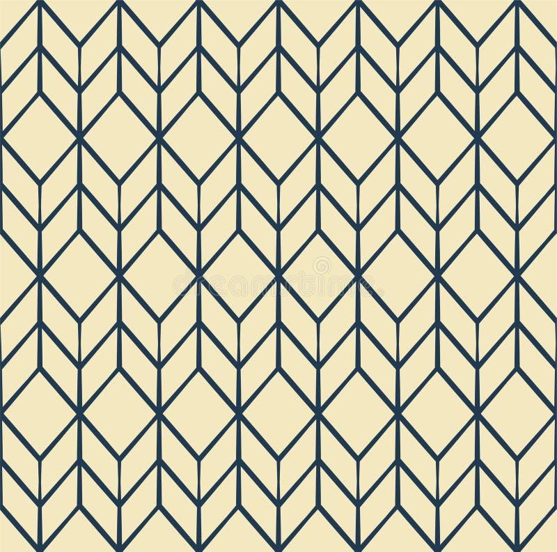 Abstrakt geometrisk modell med linjer stock illustrationer