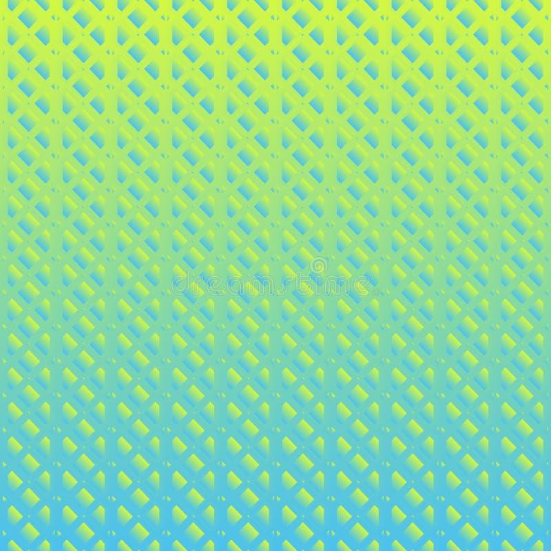 Abstrakt geometrisk modell med linjer seamless solrosor för bakgrund Grafisk modern modell i grön lutningfärgstil vektor illustrationer
