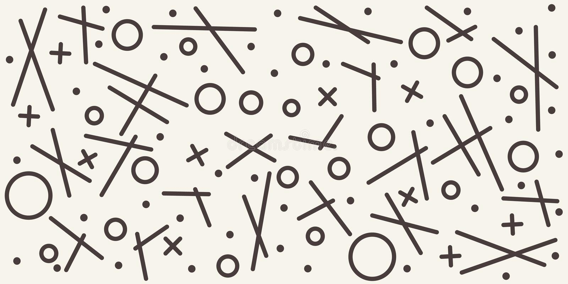Abstrakt geometrisk modell med olika skisserade former seamless vektor för bakgrund stock illustrationer