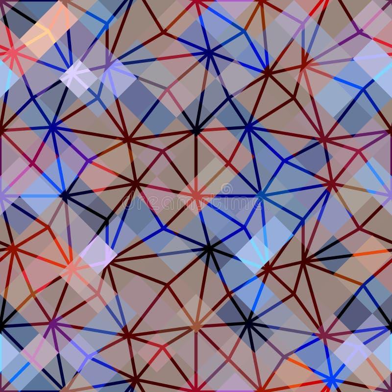 Abstrakt geometrisk modell på PIXELbakgrund stock illustrationer