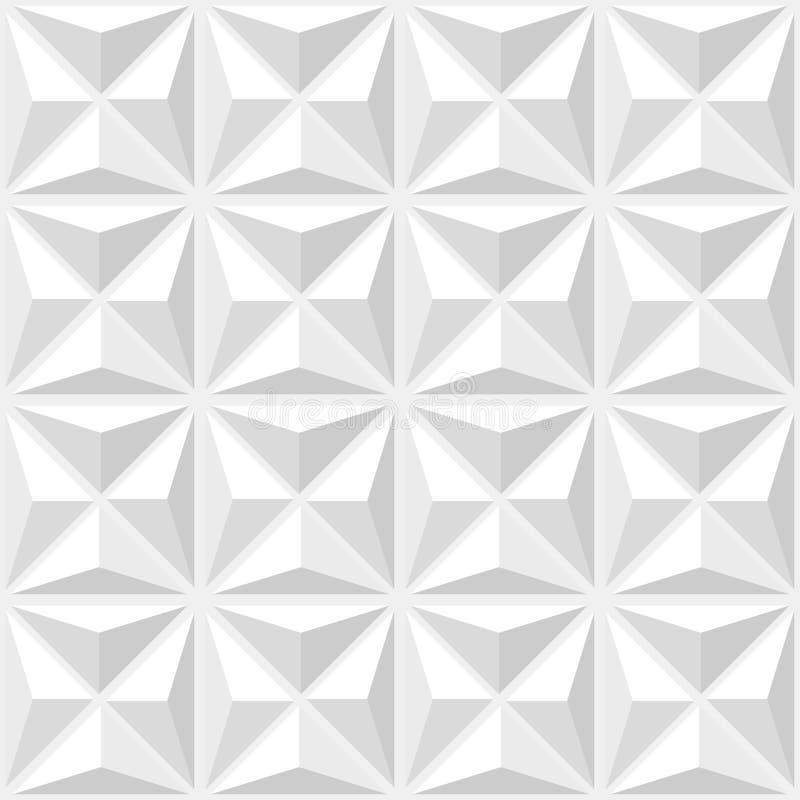 Abstrakt geometrisk modellvit vektor illustrationer