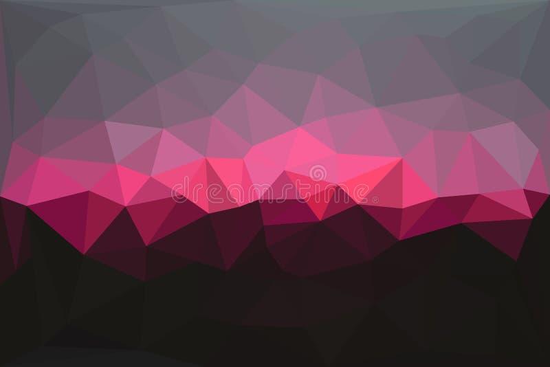 Abstrakt geometrisk polygonal bakgrund royaltyfri illustrationer