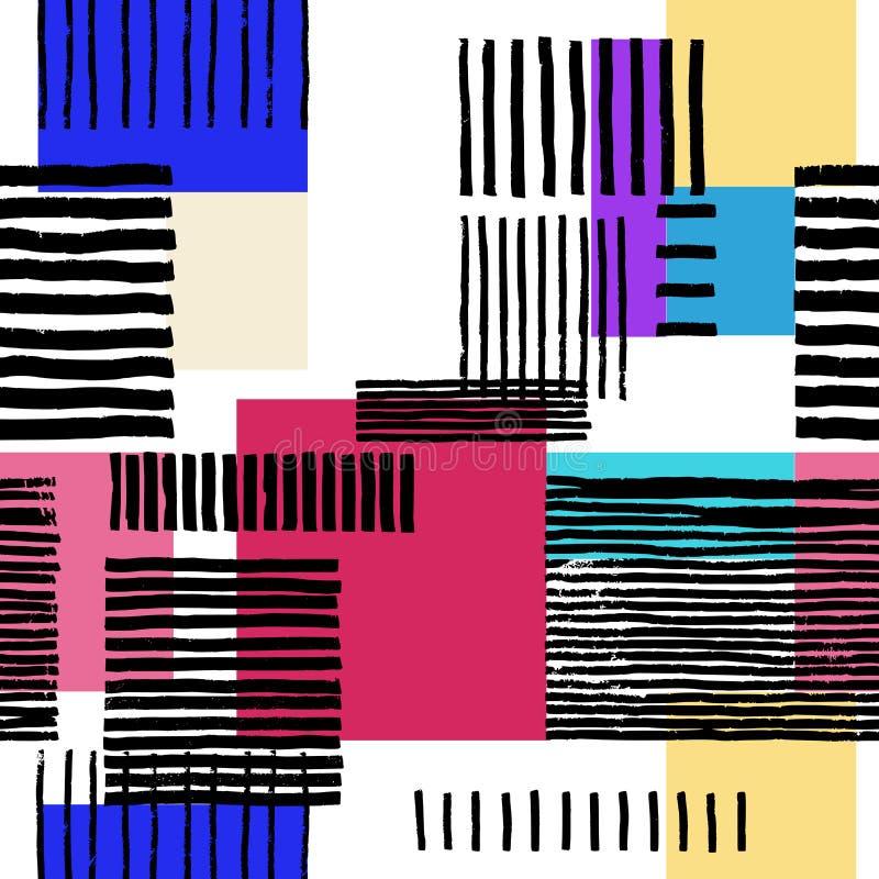 Abstrakt geometrisk prydnad vektor illustrationer