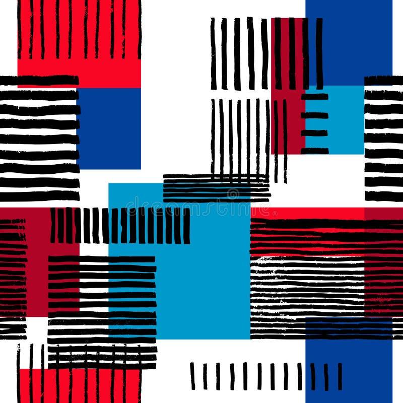 Abstrakt geometrisk prydnad royaltyfri illustrationer