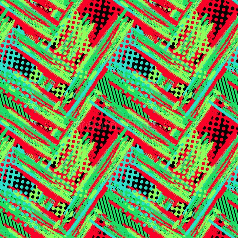 Abstrakt geometrisk sömlös grov grungemodell, modern desig royaltyfria foton