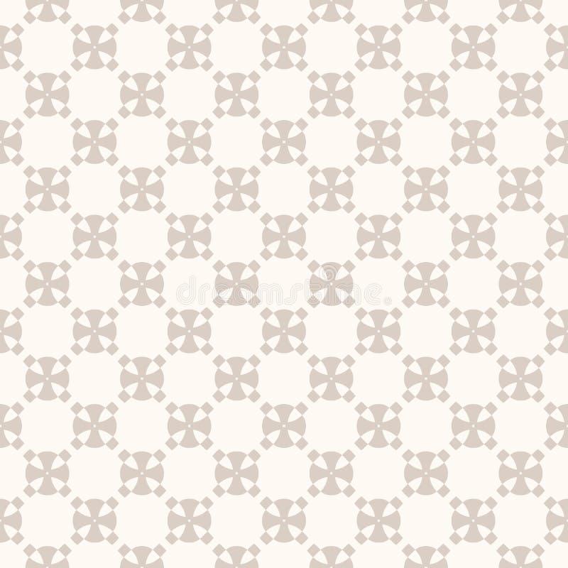 Abstrakt geometrisk sömlös modell för subtil vektor i beigea pastellfärgade färger vektor illustrationer