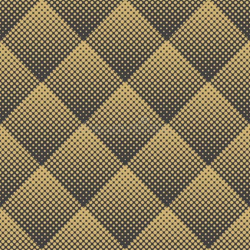 Abstrakt geometrisk sömlös modell för vektor av romber Rastrerad prick för lutning stock illustrationer