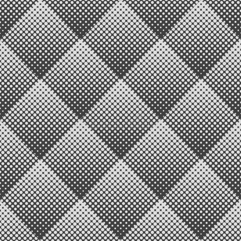 Abstrakt geometrisk sömlös modell för vektor av romber Rastrerad prick för lutning royaltyfri illustrationer