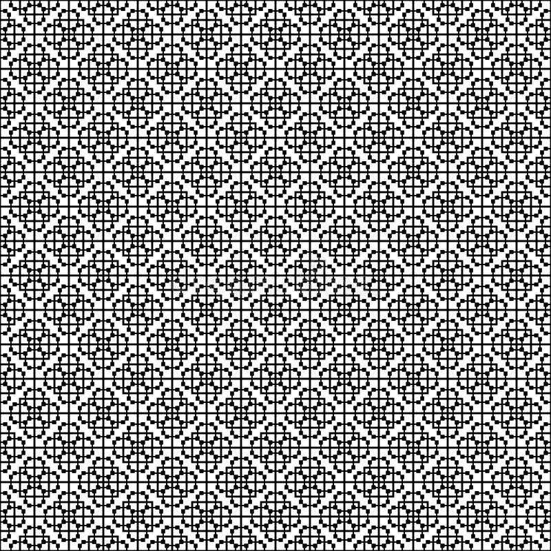 Abstrakt geometrisk sömlös modell i svartvitt, vektor Design som är industriell stock illustrationer