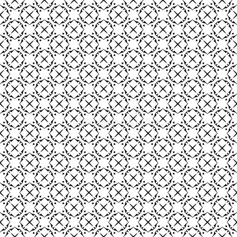 Abstrakt geometrisk sömlös modell i svartvitt, vektor Design som är industriell vektor illustrationer