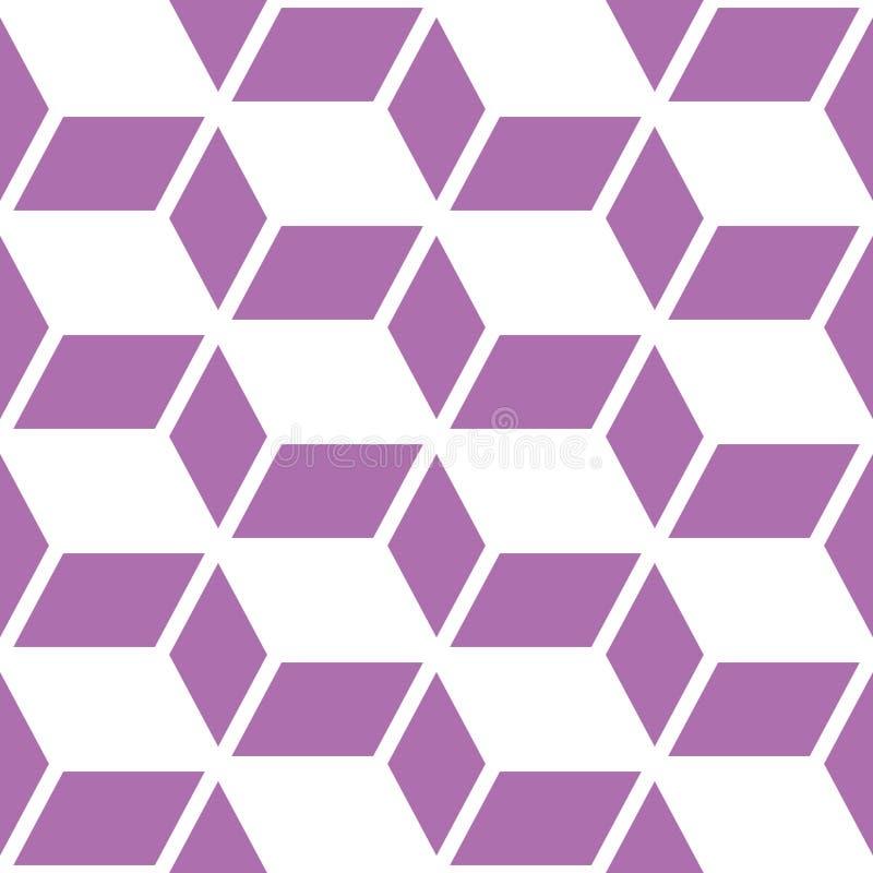 Abstrakt geometrisk sömlös vektormodell, modern vit upprepande garnering för lilor och vektor illustrationer