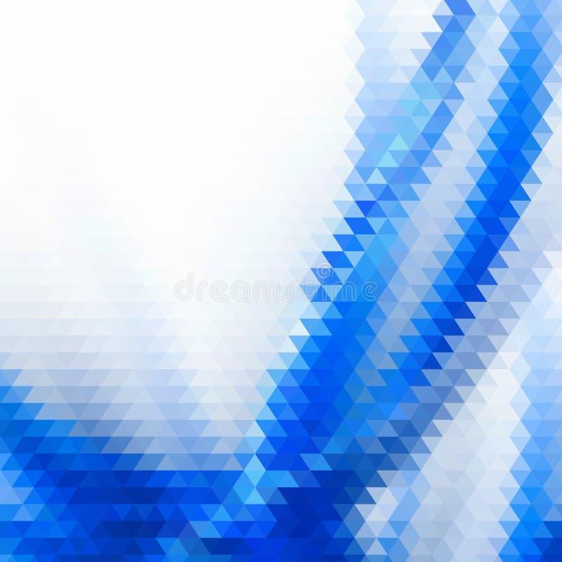Abstrakt geometrisk sammansättning i blått ljus -, kräm-, guld blänker och pastellfärgade rosa färger Modern och stilfull abstrak royaltyfri illustrationer