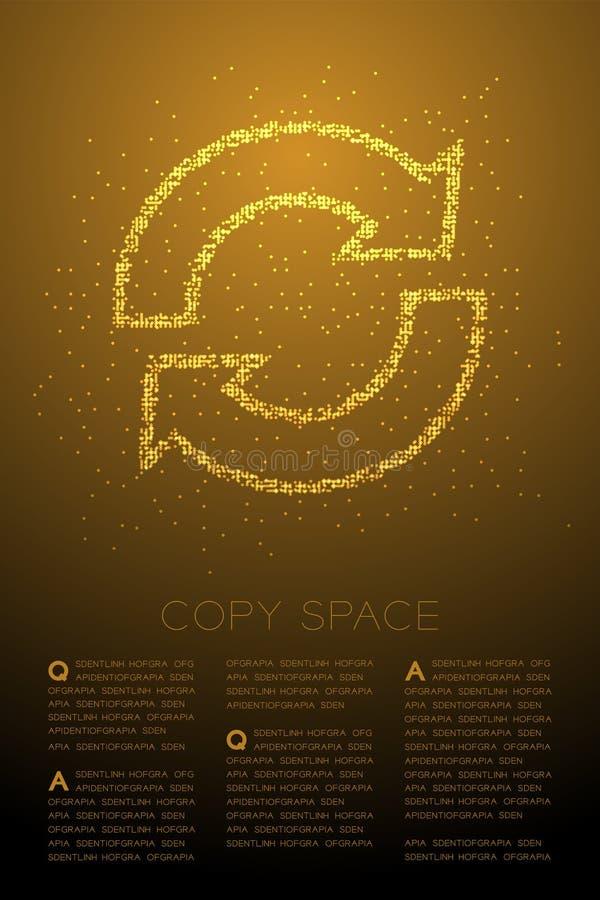 Abstrakt geometrisk symbol för tecken för synkronisering för modell för PIXEL för Bokeh cirkelprick, illustration för färg för de stock illustrationer