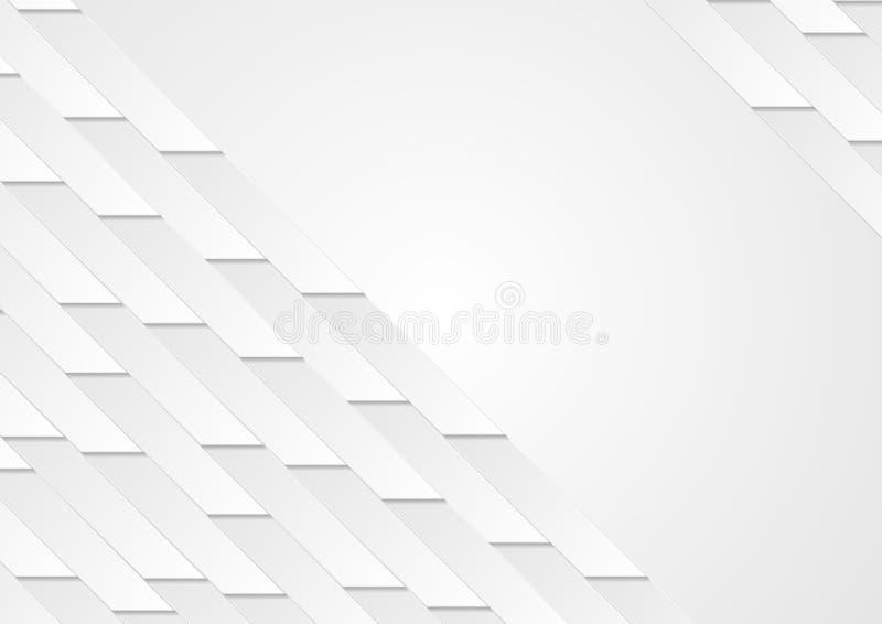 Abstrakt geometrisk techbakgrund för grå färger royaltyfri illustrationer