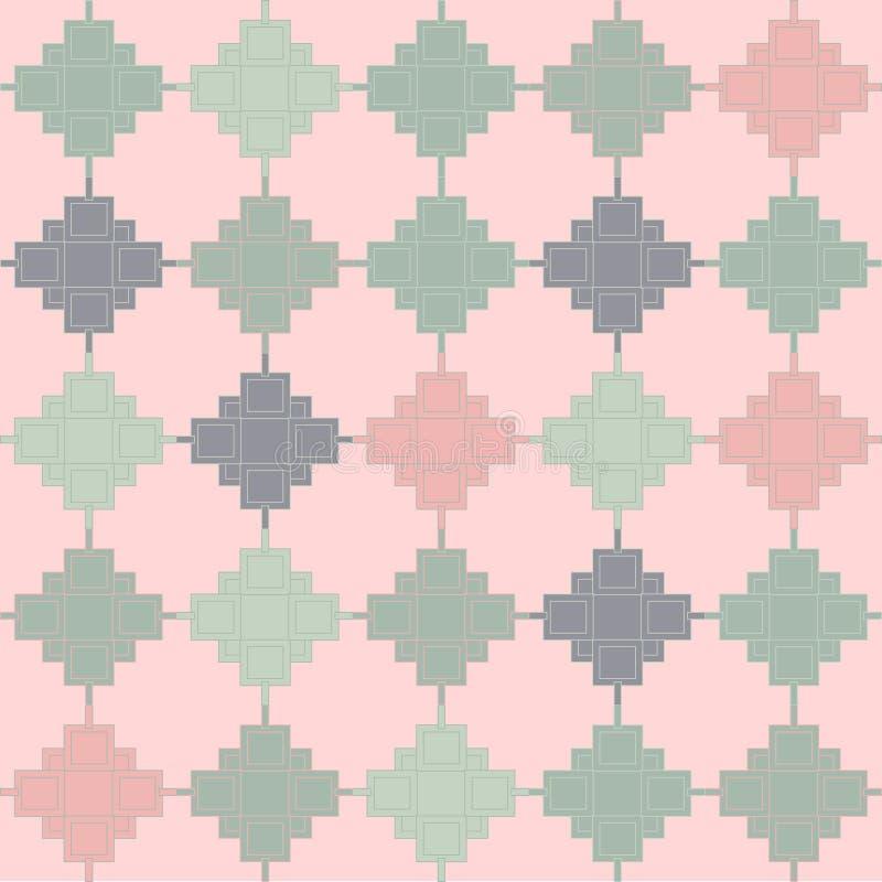 Abstrakt geometrisk vektor för formrosa färggräsplan royaltyfri illustrationer