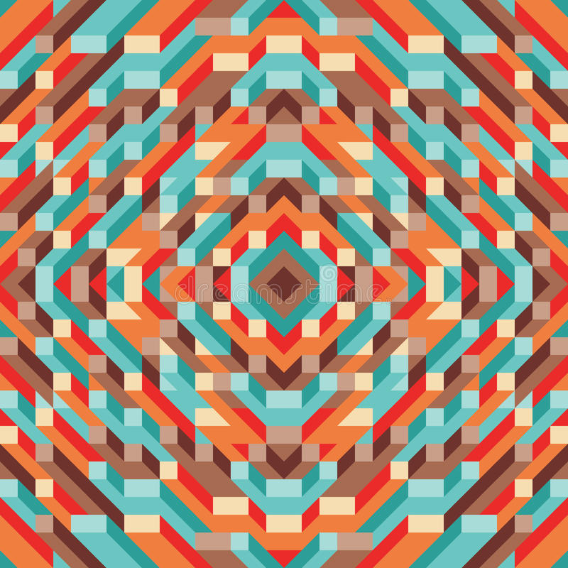 Abstrakt geometrisk vektorbakgrund för presentation, häfte, website och annat designprojekt Mosaik färgad modell med 3D vektor illustrationer