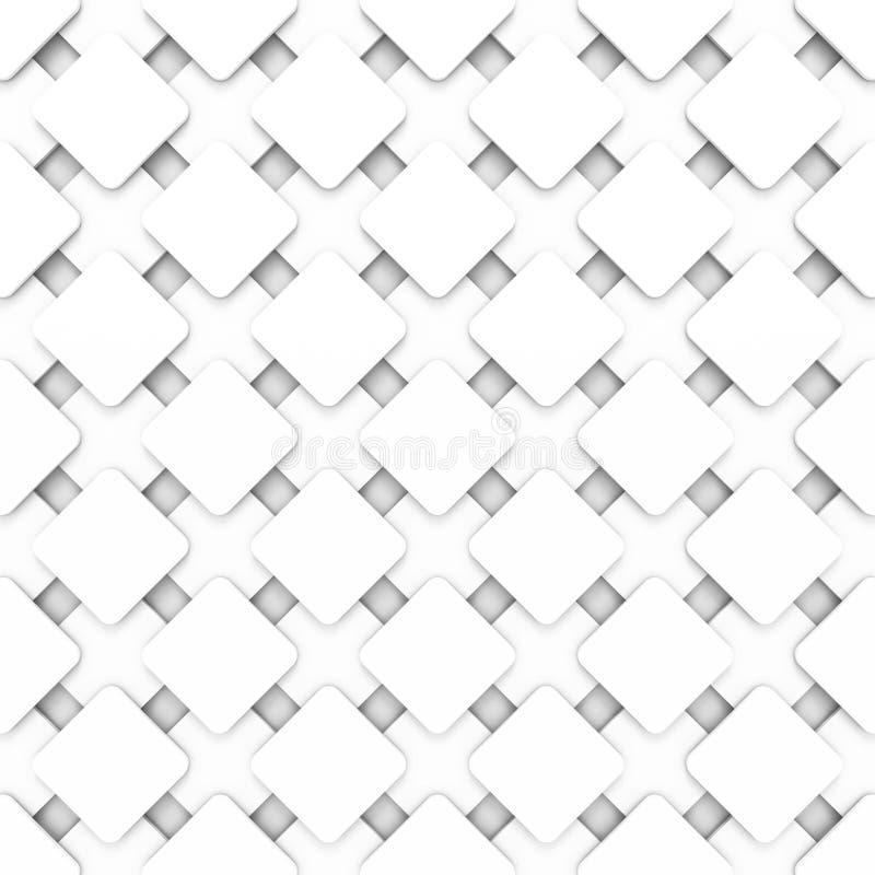 Abstrakt geometrisk vit bakgrund för elegans royaltyfri bild