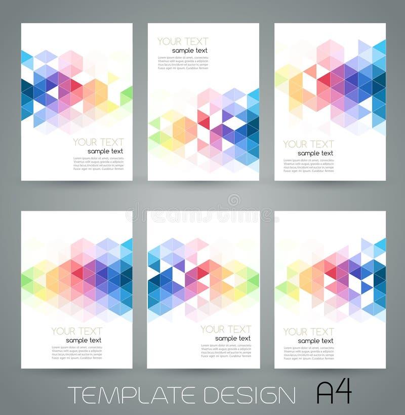 Abstrakt geometriskt baner för vektor med triangeln stock illustrationer