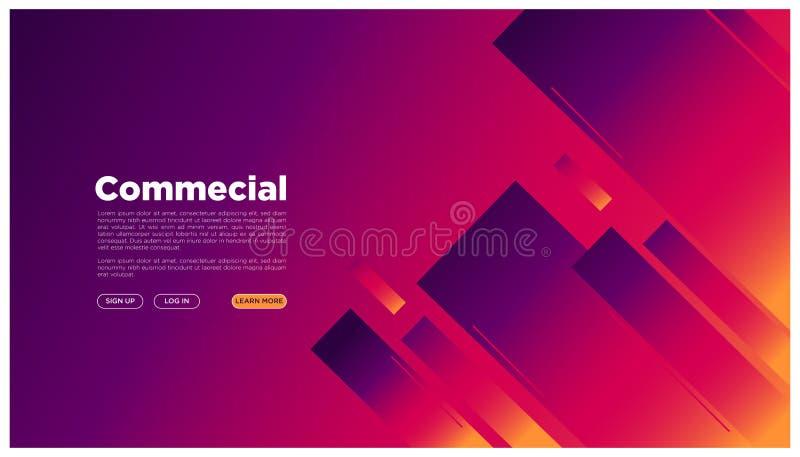 Abstrakt geometriskt landa färgrikt futuristiskt grafiskt utrymme för sida din here_geometric stil för text royaltyfri illustrationer
