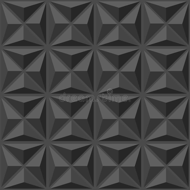 Abstrakt geometriskt modellmörker royaltyfri illustrationer