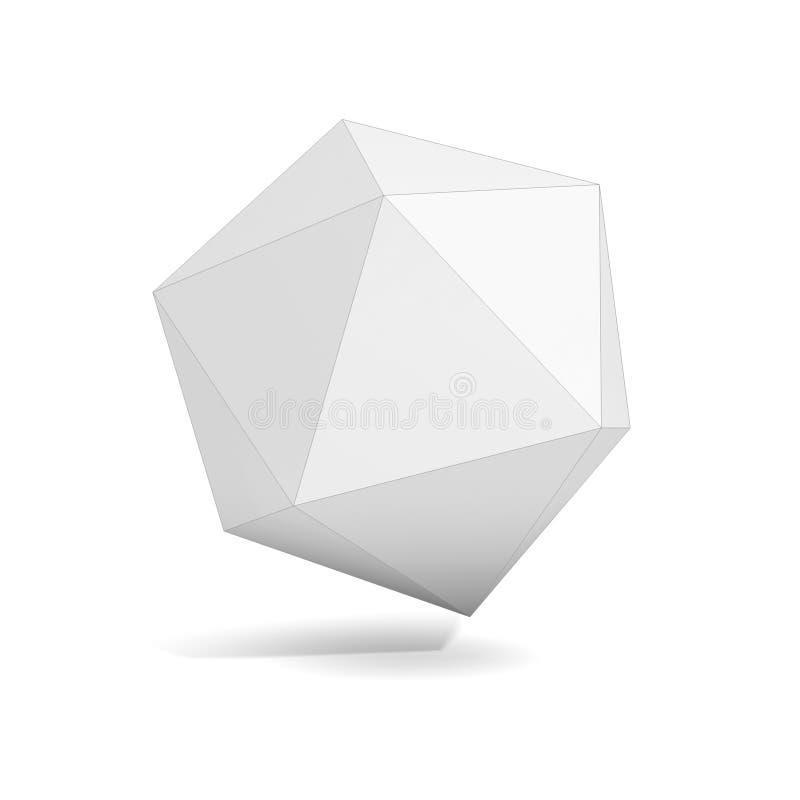 Abstrakt geometriskt objekt 3d stock illustrationer