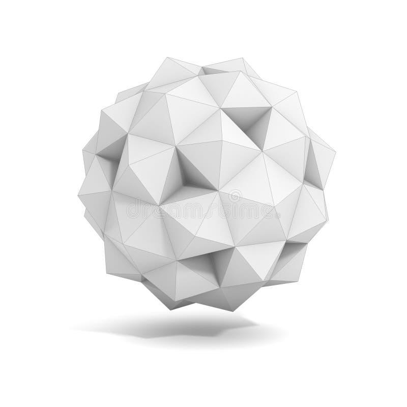 Abstrakt geometriskt objekt 3d royaltyfri illustrationer