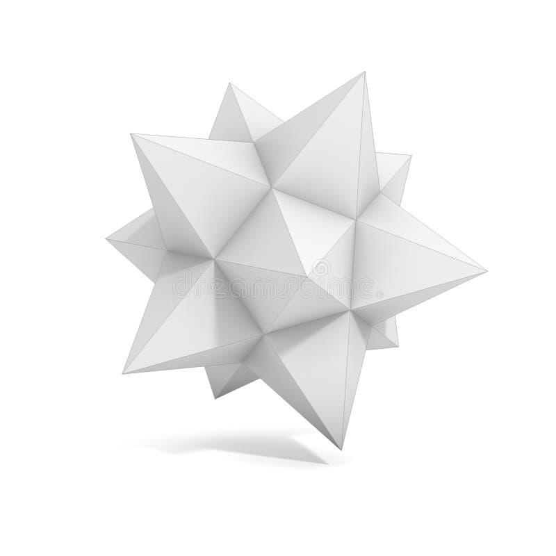 Abstrakt geometriskt objekt 3d vektor illustrationer