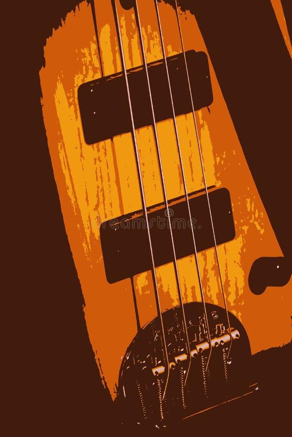 abstrakt gitarr vektor illustrationer