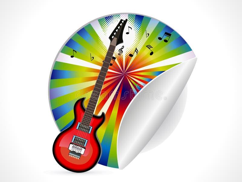 Abstrakt gitarrklistermärke stock illustrationer