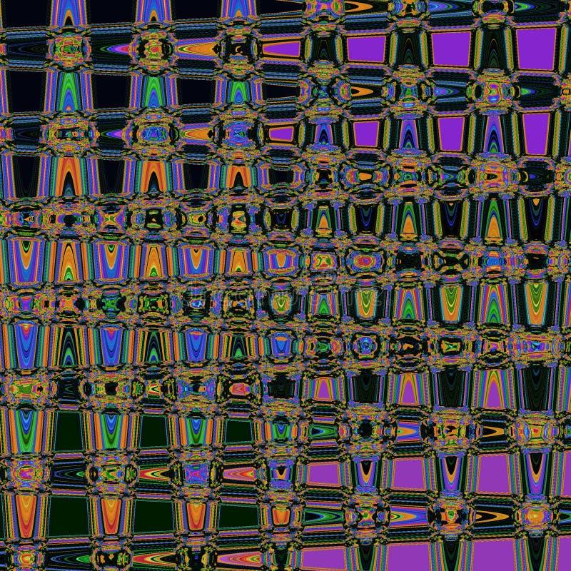 Abstrakt glänsande modell för sicksack i neonfärger stock illustrationer