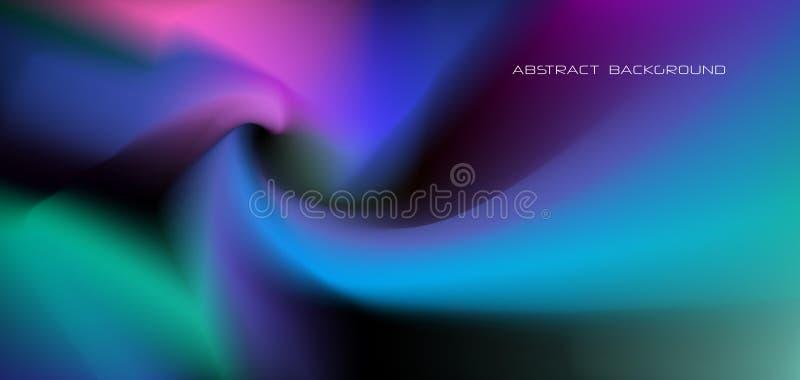 Abstrakt glöda för illustration, neonljus, minsta ljus vätska, bakgrund för vätskelutning Moderiktig för vektor modern grafisk de vektor illustrationer