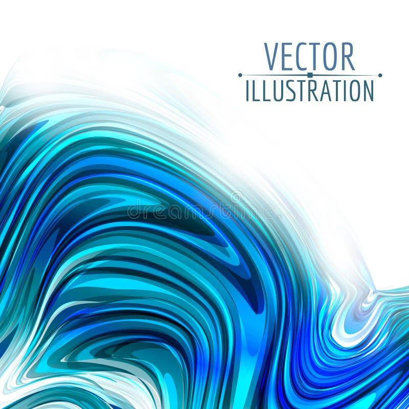 Abstrakt glansig virvel på vit bakgrund vektor illustrationer